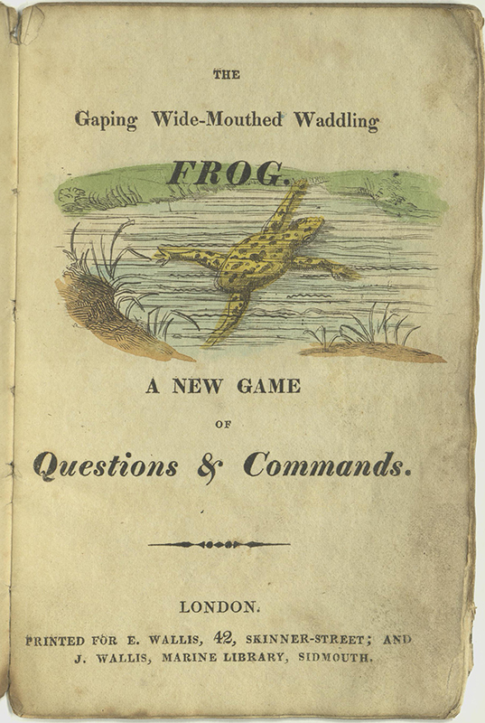 Title page of The Frog