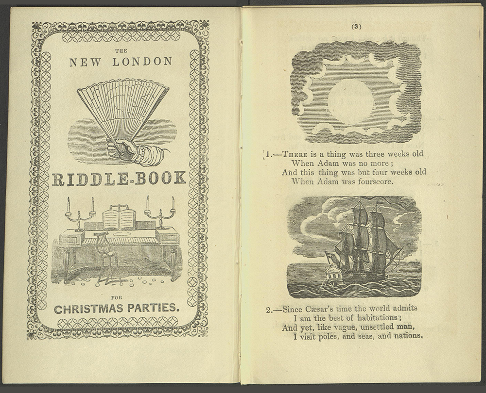 Inside cover and first two riddles