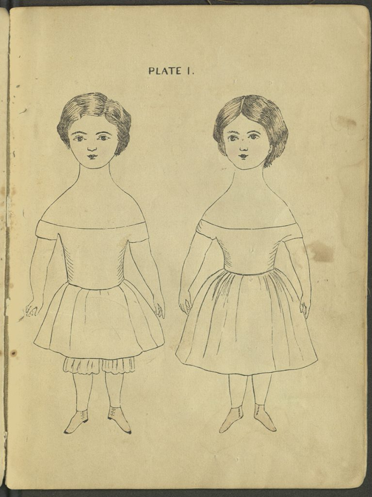 Plate I. Two dolls