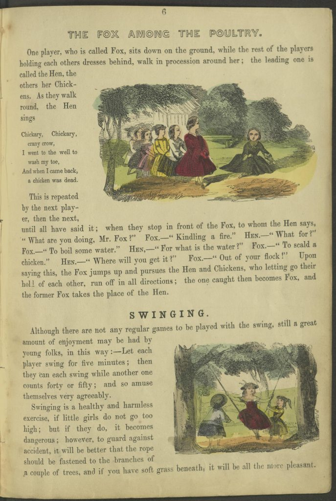"Page 6. ""Fox Among the Poulty"" and ""Swinging"""