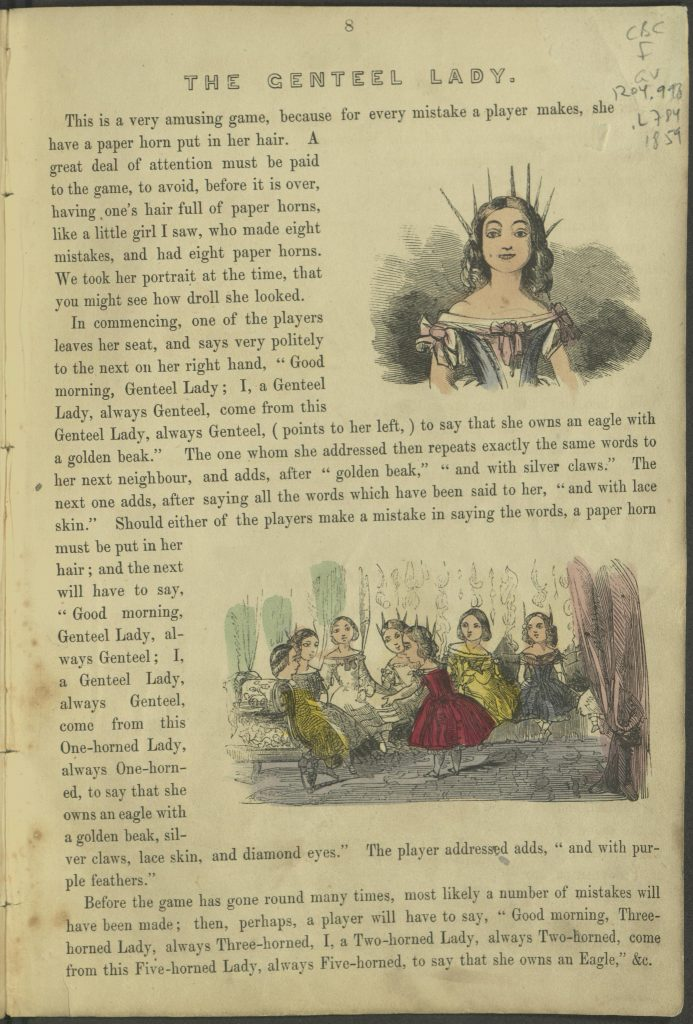 "Page 8. ""The Genteel Lady"""