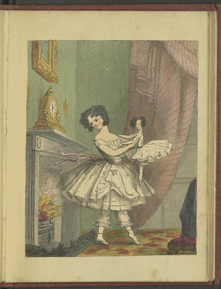 Lady Flora set fire to her skirt while dancing with the doll