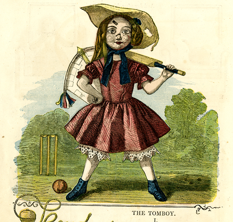 Detail: Girl with cricket bat